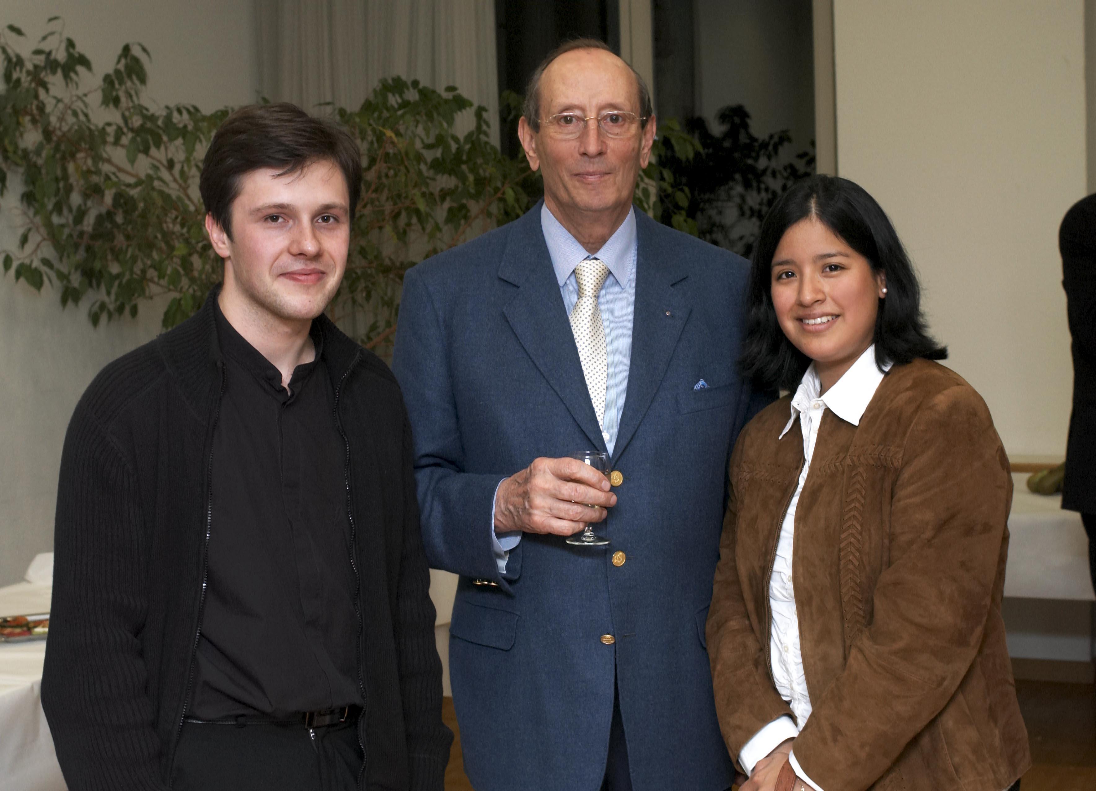 Rahn Musikpreis 2006 vlnr.: Alexander Grytsayenko, Hans-Konrad Rahn, Ana Patricia Rahn