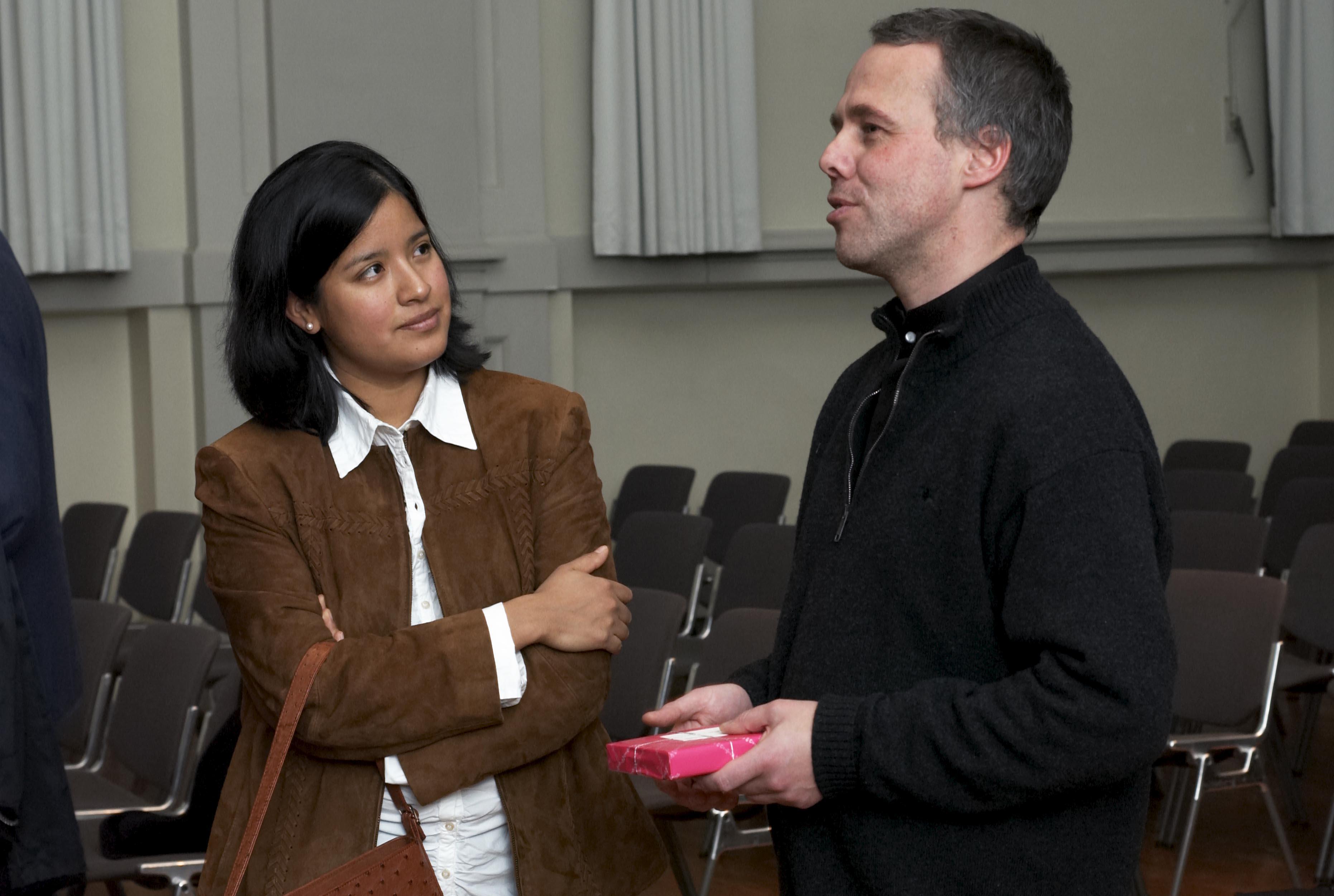 Rahn Musikpreis 2006, Ana Patricia Rahn im Gespräch mit Frank Sanderell