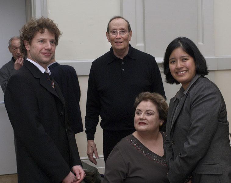 Familie Rahn und 2. Preisträger Christoph Scheffelt Rahn Musikpreis 2008