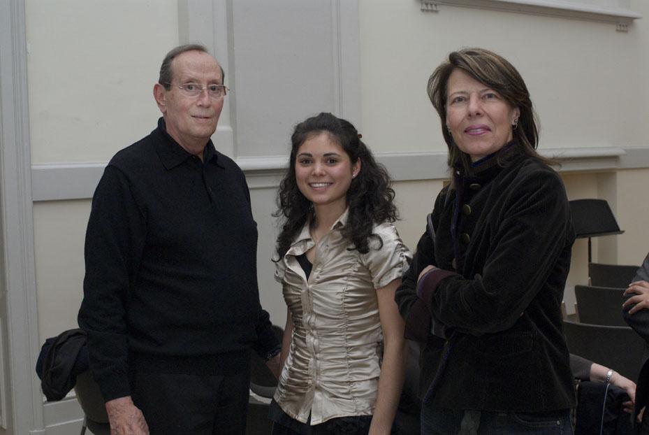 Hans K. Rahn, Giulietta Koch und Patronatsmitglied Barbara Albers, Rahn Musikpreis 2008