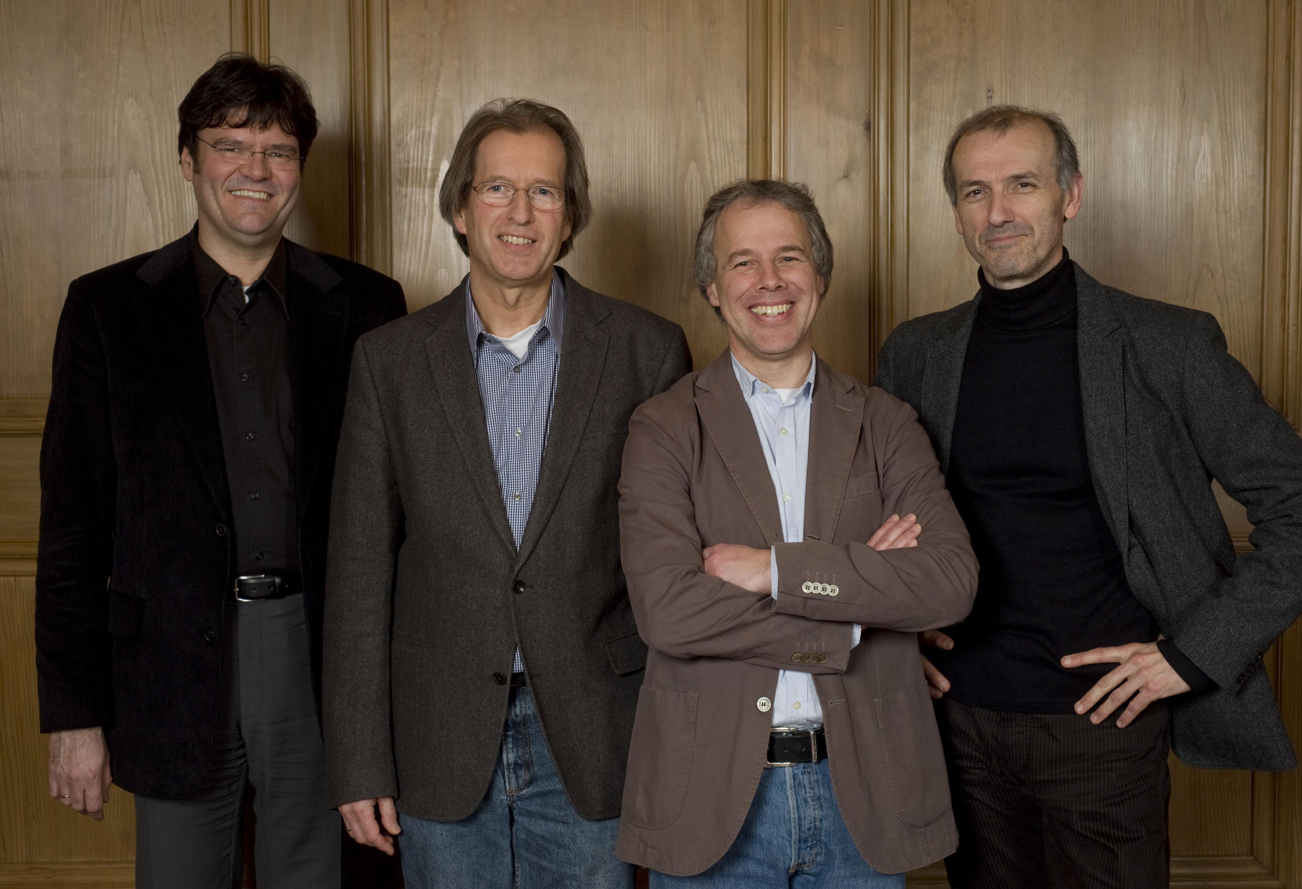Juroren Rahn Musikpreis 2010 vlnr.: Stefan Wagner, Gunter Teuffel, Frank Sanderell, Roel Dieltiens
