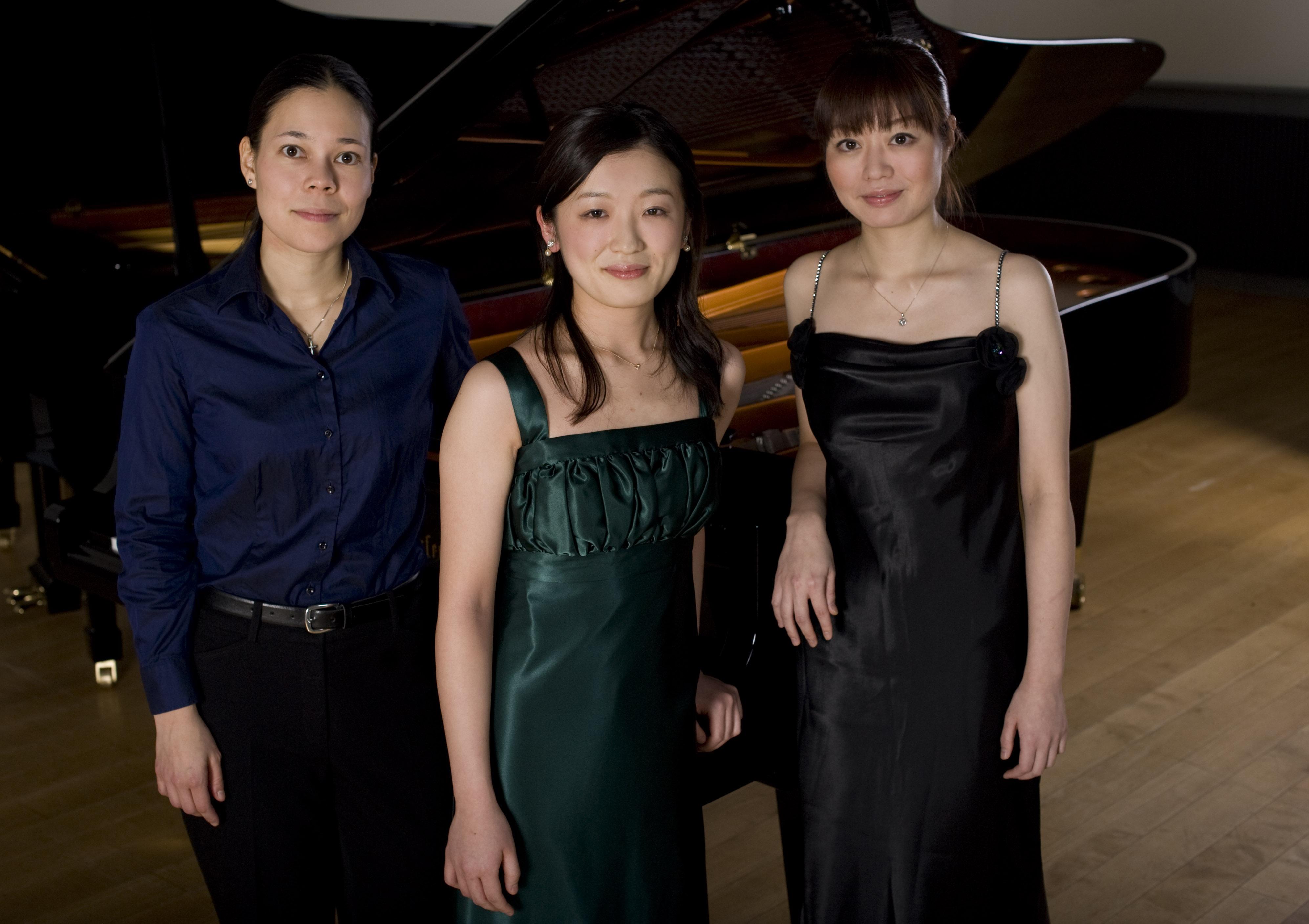 Die Preisträgerinnen des Rahn Musikpreis Wettbewerbs 2012 Vlnr.: Maki Wiederkehr, Asaki Ino (erste Preise), Mari Tada (3. Preis)