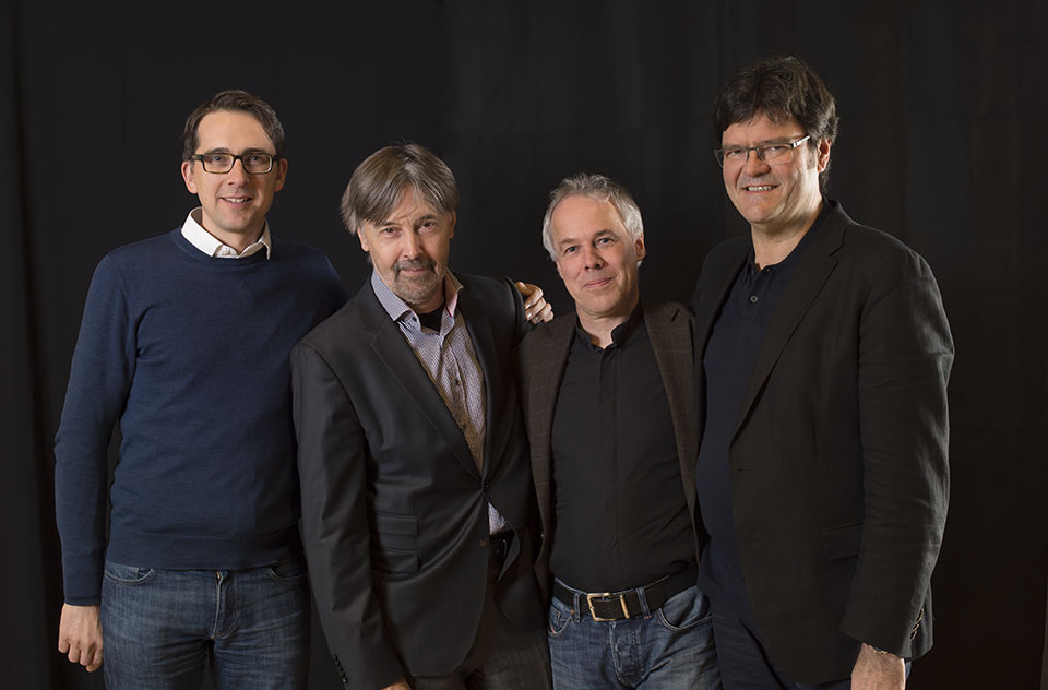 Jury RAHN MUSIKPREIS 2018: Hannes Bärtschi, Ivan Monighetti, Frank Sanderell and Stefan Wagner (from left to right)