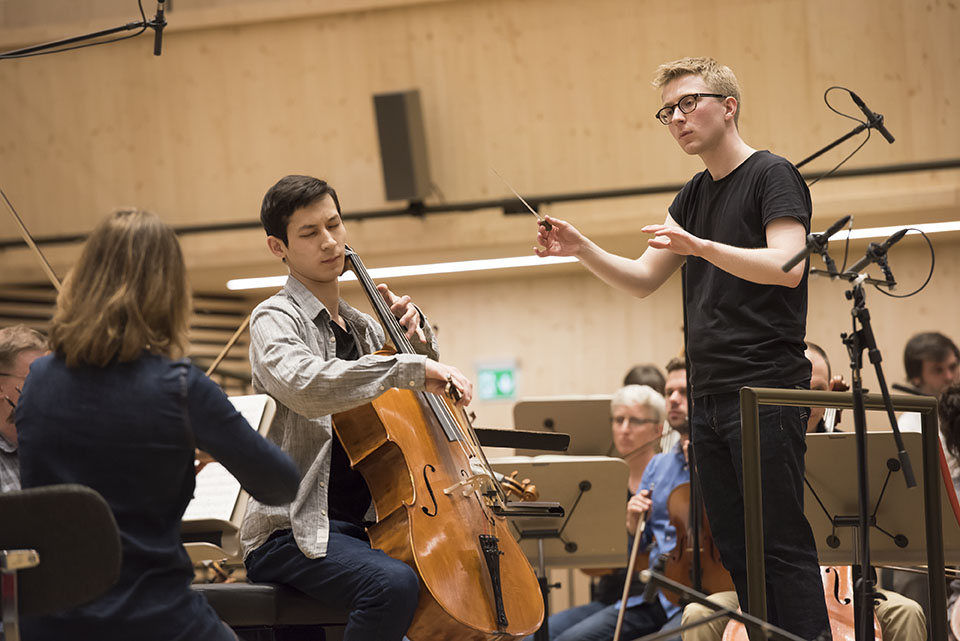 Final rehearsal - first prize winner Salauat Karibayev and Patrick Hahn