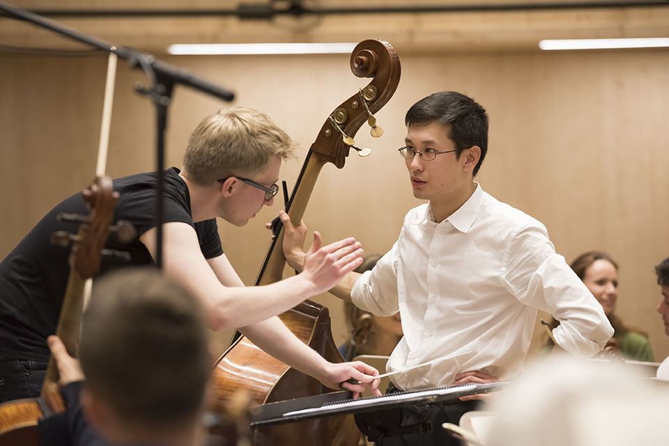 Final rehearsal - first prize winner Zhixiong Liu and Patrick Hahn