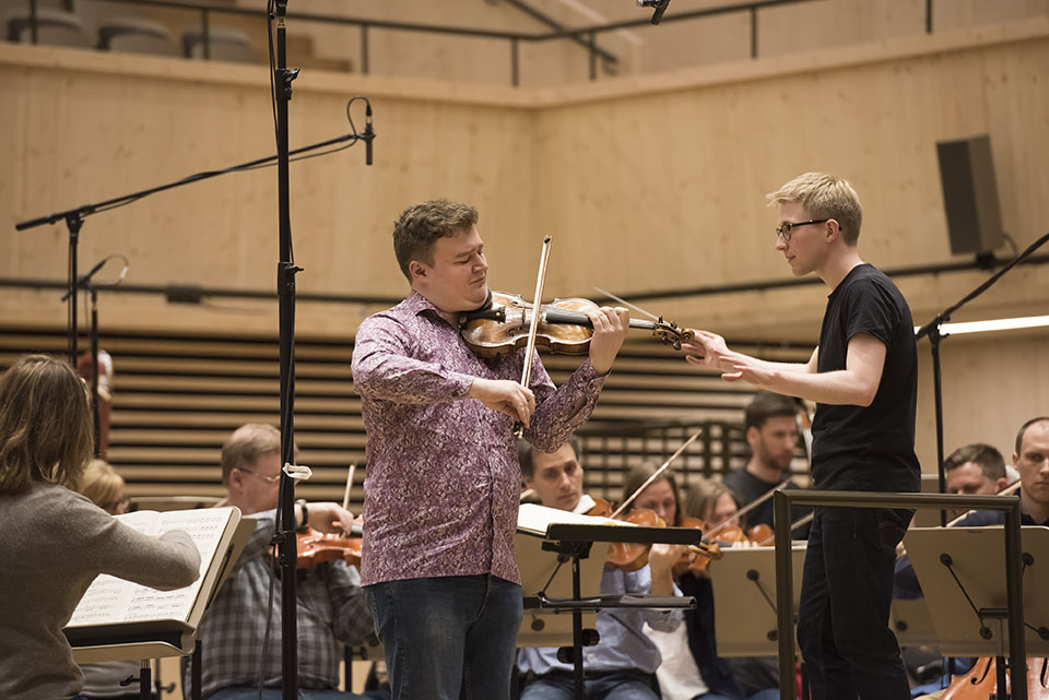 Final rehearsal - first prize winner Vasyl Zatsikha and Patrick Hahn