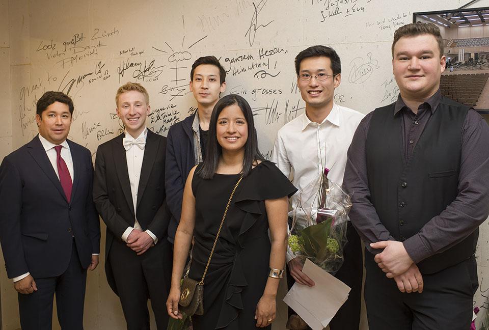 Adrian Rahn, Patrick Hahn, Salauat Karibayev, Ana P. Rahn Erden, Zhixiong Liu und Vasyl Zatsikha (v.l.n.r.)