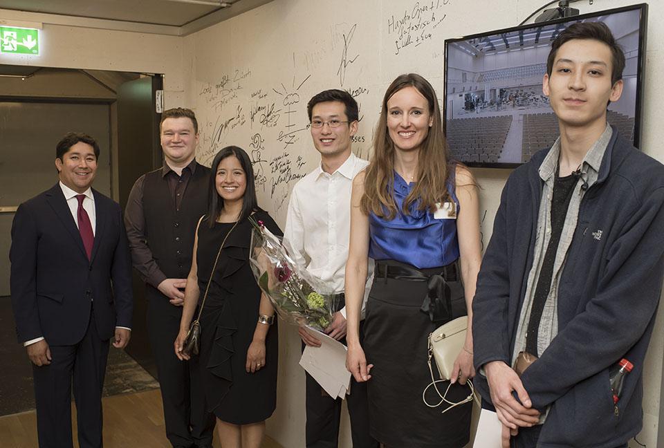 Adrian Rahn, Vasyl Zatsikha, Ana P. Rahn Erden, Zhixiong Liu, Katharina Kurtz und Salauat Karibayev (v.l.n.r.)