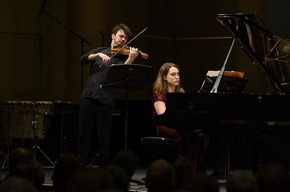Eoin Ducrot, 3. Preis Rahn Musikpreis 2018 und Chiara Opalio, 1. Preis Rahn Musikpreis 2016