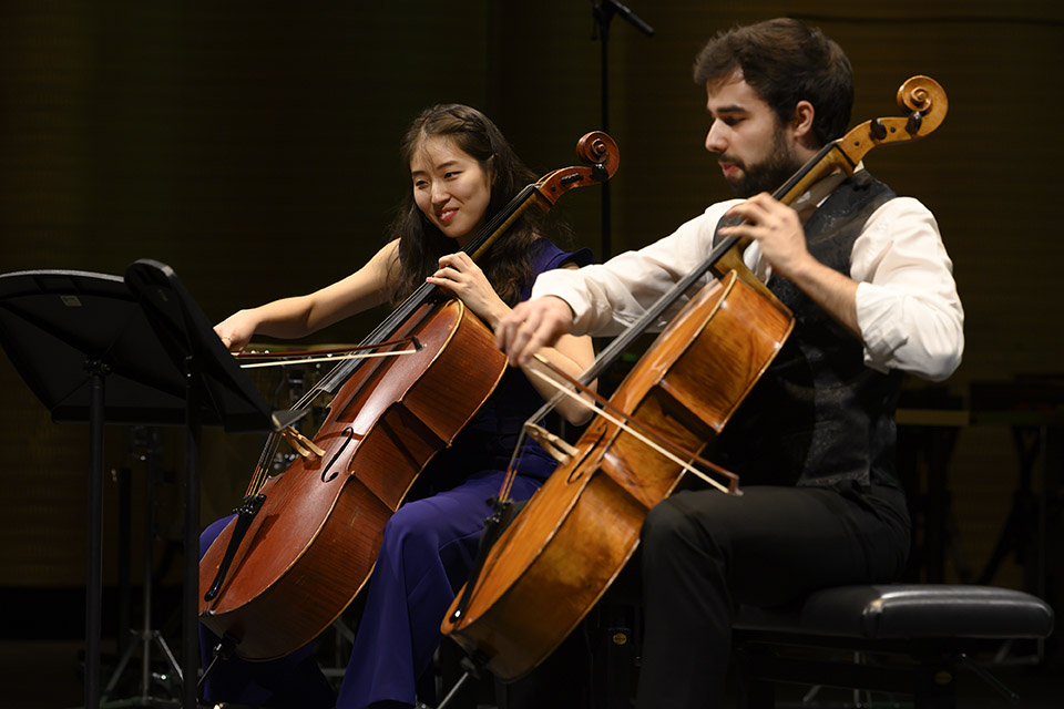 Min Ji Kim, 2. prize Rahn Musikpreis 2018 and Iago Dominguez Eiras, scholarship holder Rahn Kulturfonds