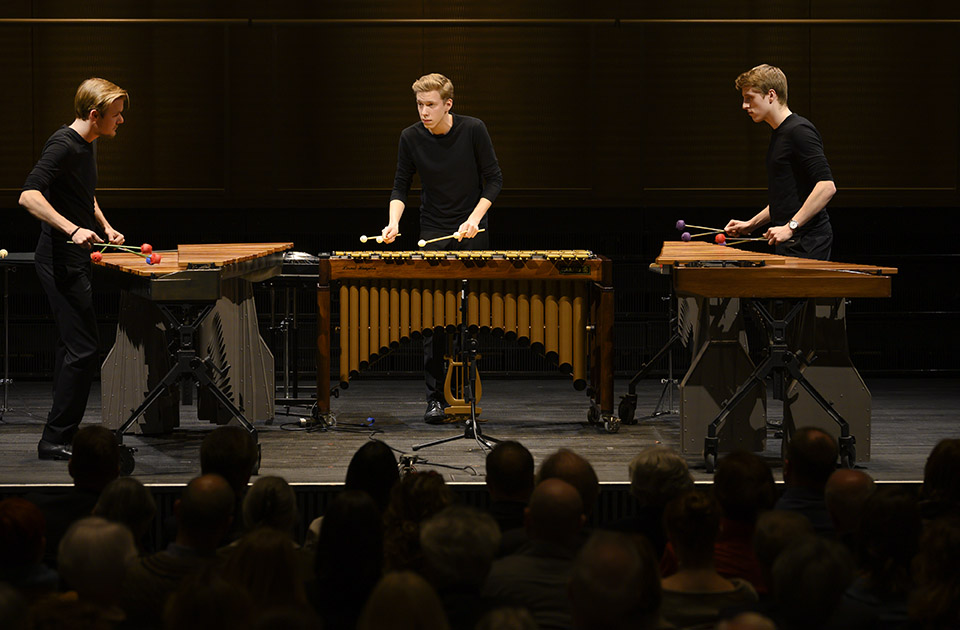 Colores Trio (from left to right): Fabian Ziegler (scholarship holder Rahn Kulturfonds), Matthias Kessler and Luca Staffelbach