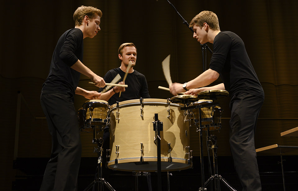 Colores Trio (from left to right): Matthias Kessler, Fabian Ziegler (scholarship holder Rahn Kulturfonds) and Luca Staffelbach