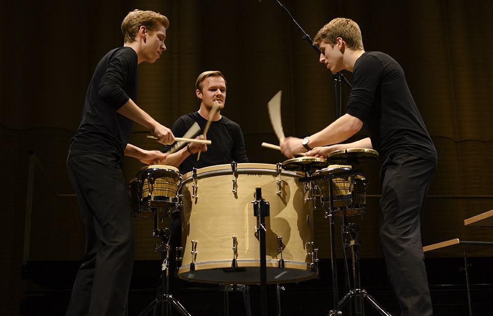 Colores Trio (v.l.n.r.): Matthias Kessler, Fabian Ziegler (Stipendiat Rahn Kulturfonds) und Luca Staffelbach